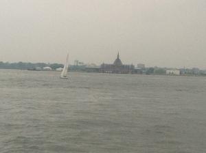 A view of Ellis Island